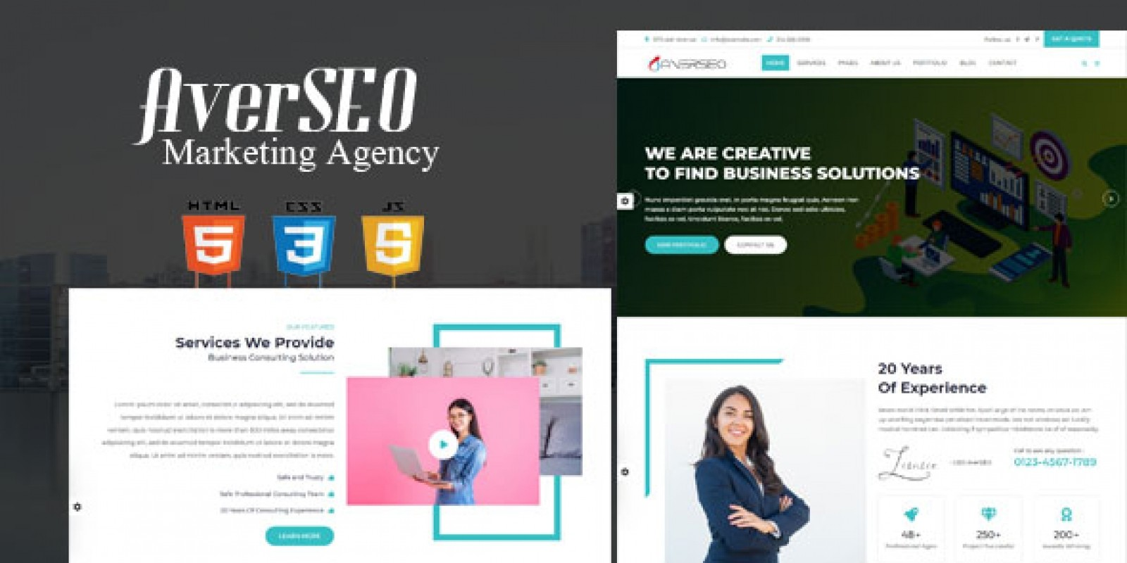 AverSEO - SEO Marketing Agency HTML5 Template