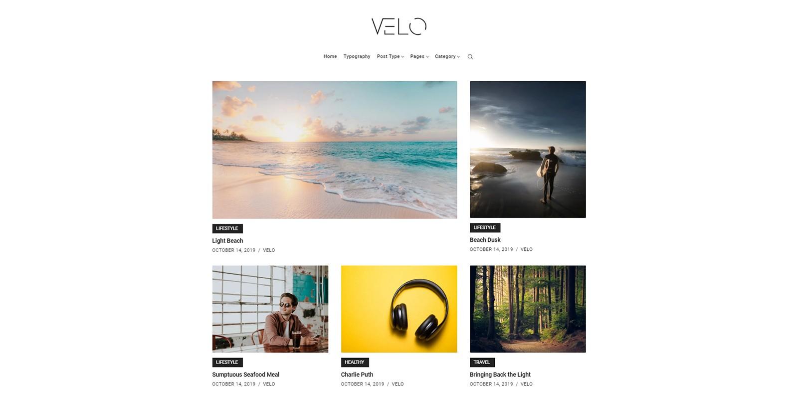 Velo - Minimal Blog WordPress Theme
