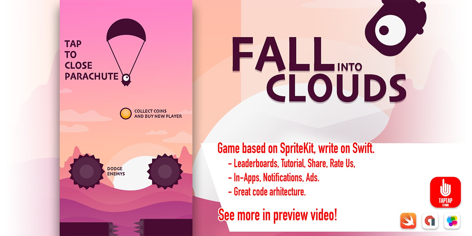 Fall Into Clouds iOS Source Code