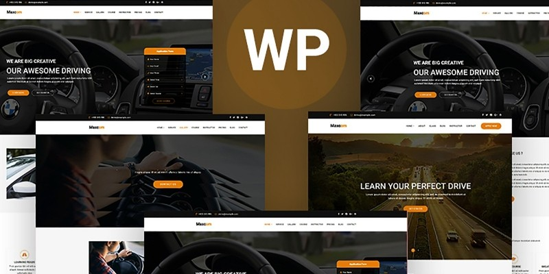 Maxcom - Driving School Education WordPress Theme