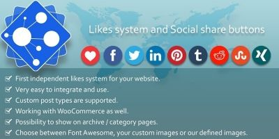 Likes And Share Buttons WordPress and WooCommerce