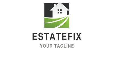 Square Shape House Logo Design