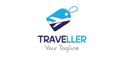 Shopping Tag Travel Logo