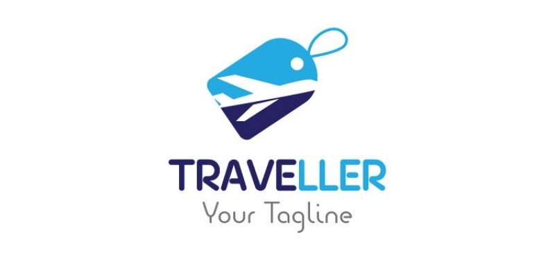 Shopping Tag Travel Logo
