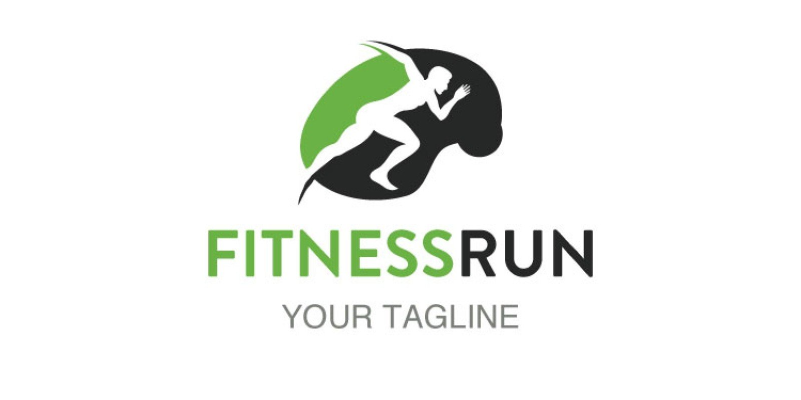 Brain Shape Man Running Logo
