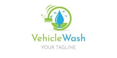 Water Drop Clean Logo