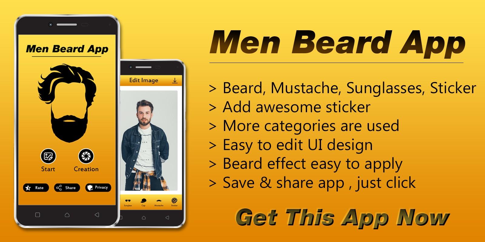 Men Beard Photo Editor App Android Source Code