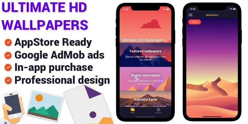 Ultimate HD Wallpapers iOS App