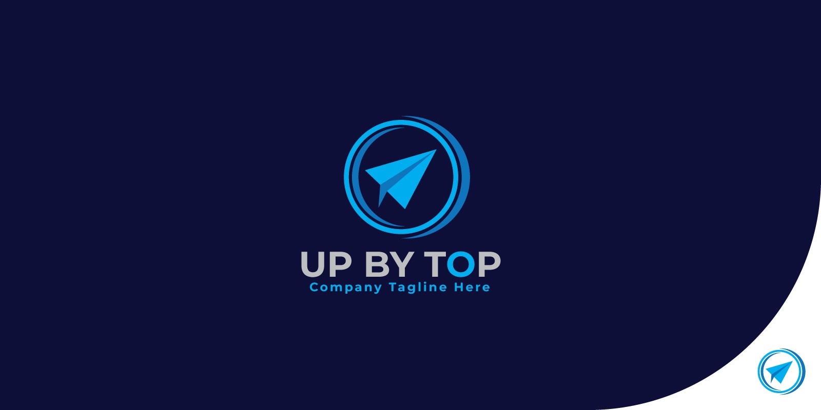 Up By Top Logo Template