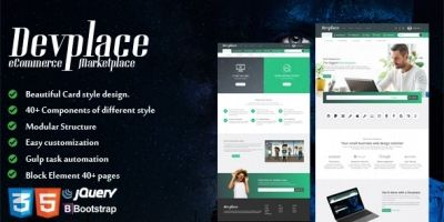 Devplace - eCommerce Marketplace HTML Template