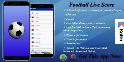 Football Live Score - Android Source Code