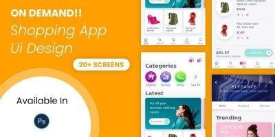 Online Shopping App UI Design