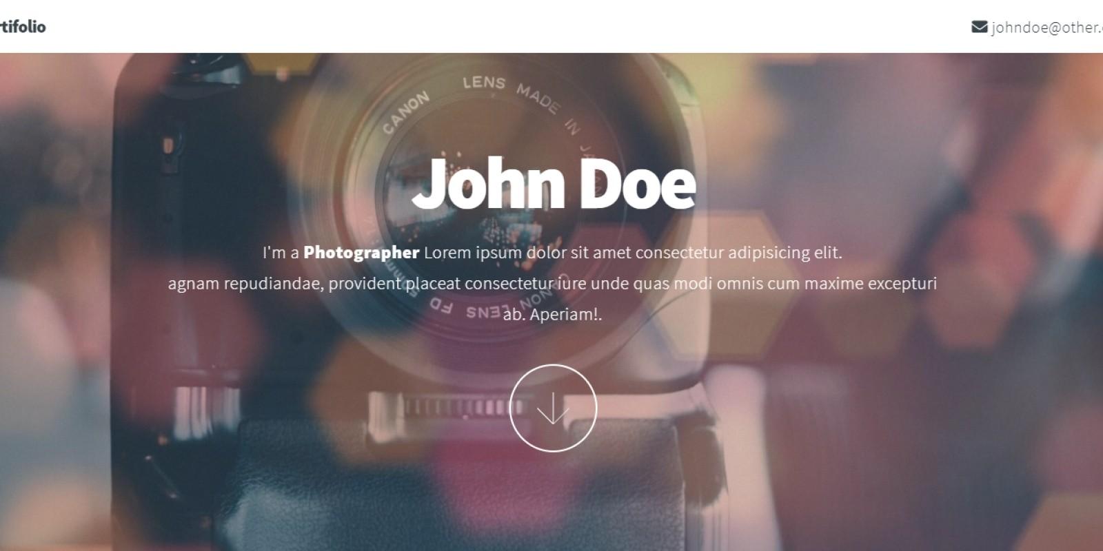 Photographer - Portfolio Template