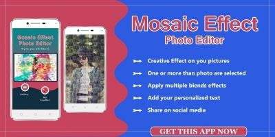 Mosaic Photo Effects Android App Template