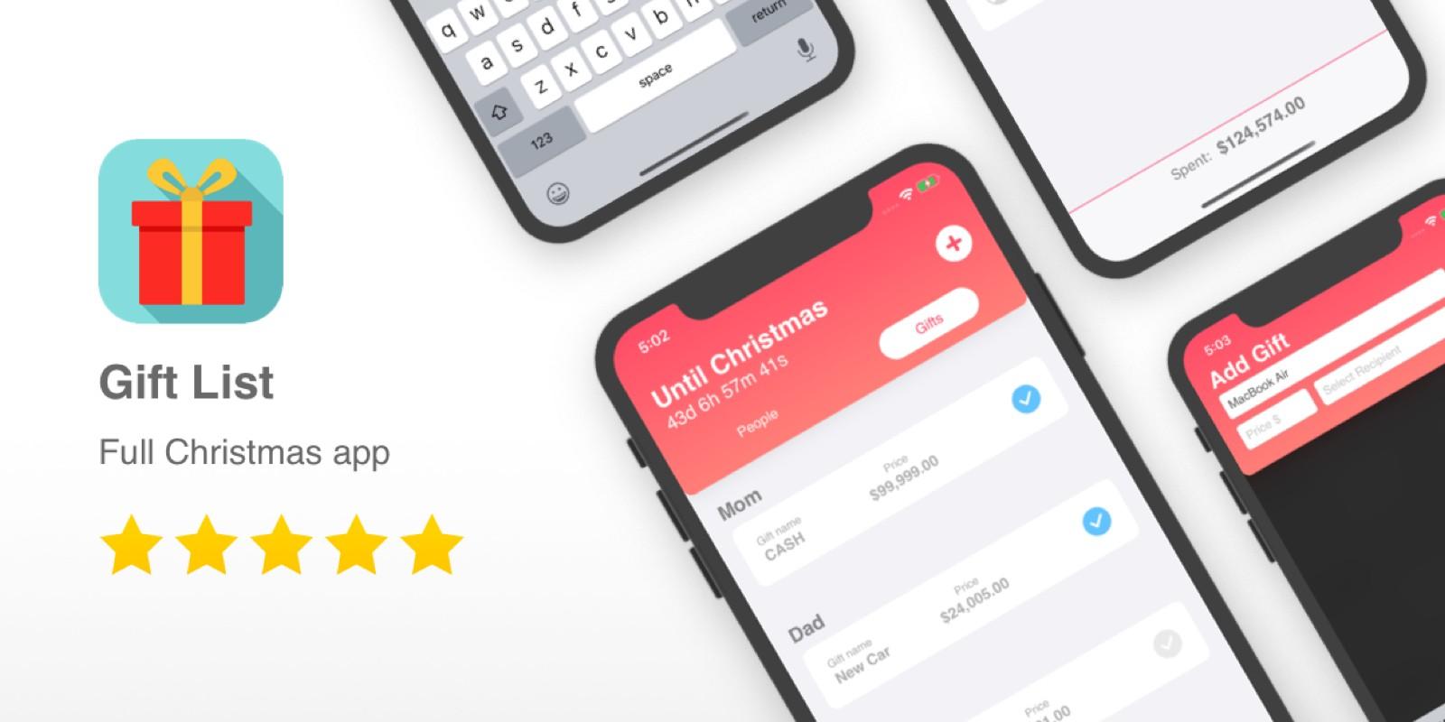 Gift List - Full Christmas List iOS App Template