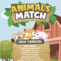 Animals Match 3 Game Assets Graphics