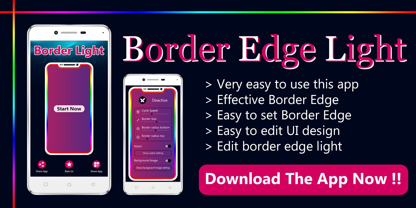 Edge Border light - Android App Template