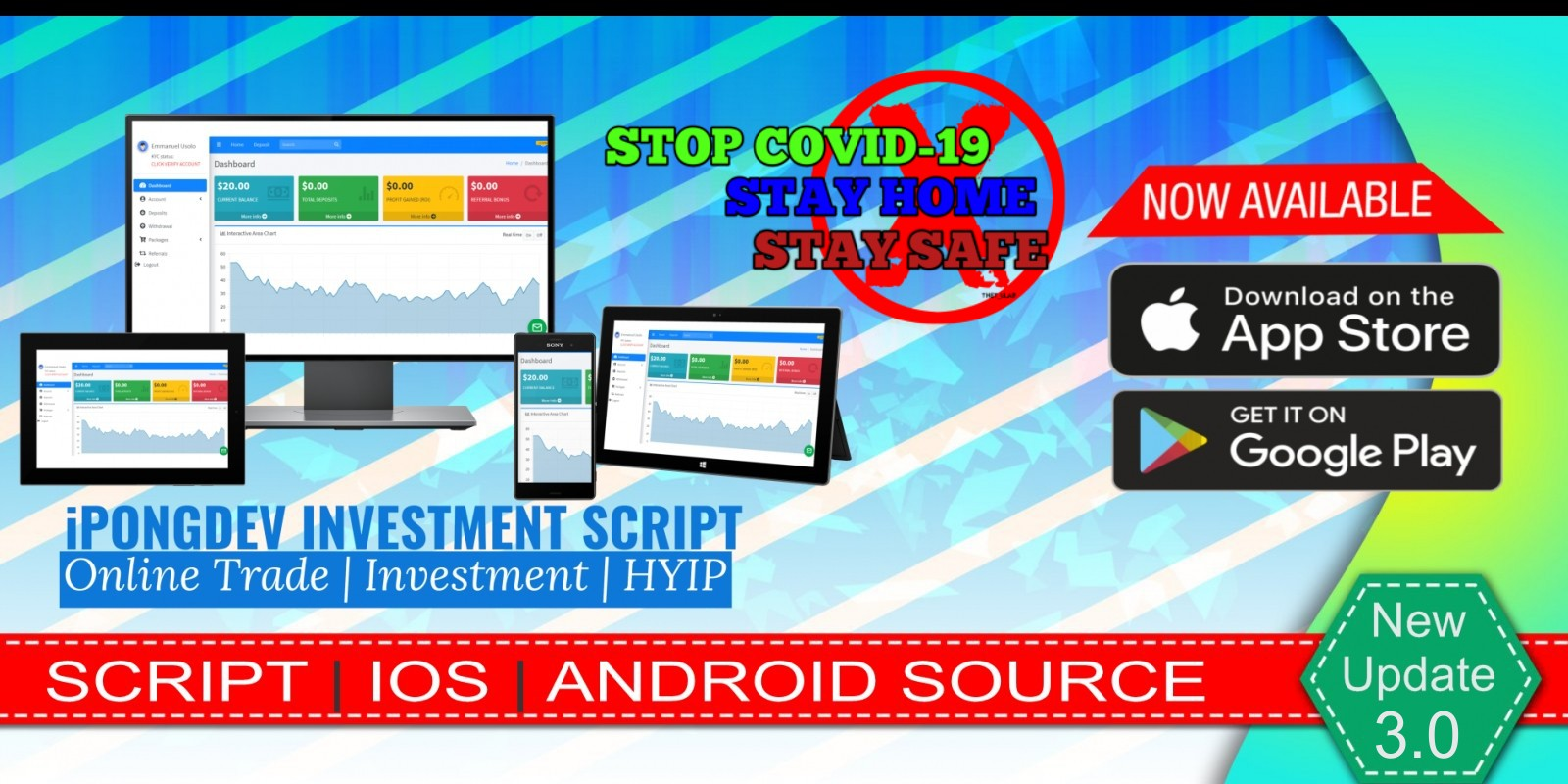 iPongdev Investment And Trading Script