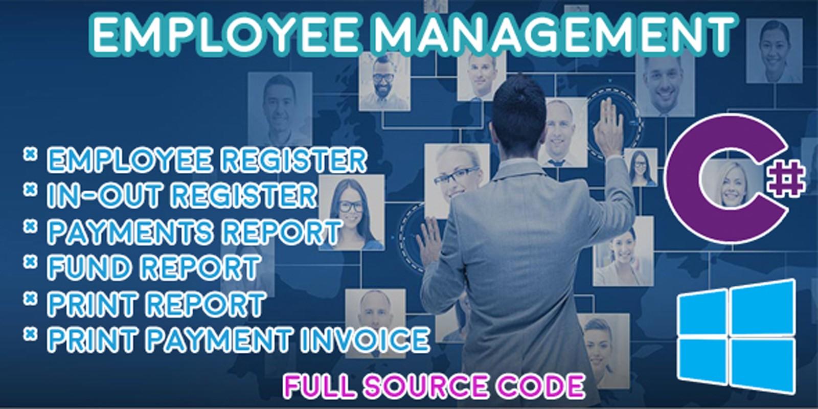 Employee Management - HRM - C# MySQL
