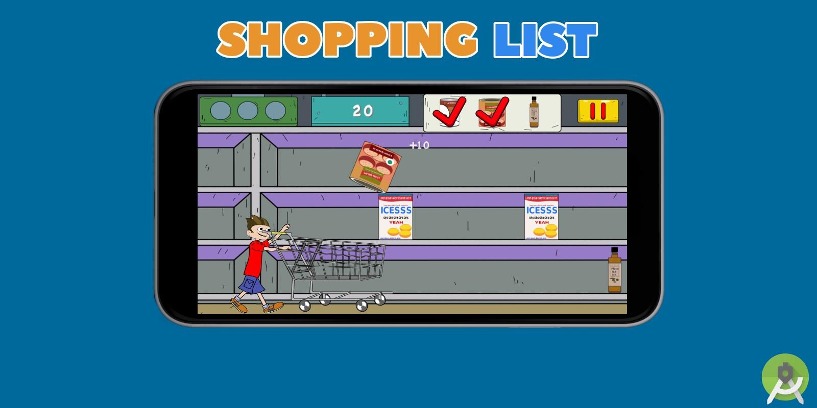 Shopping List - AdMob - Android Studio