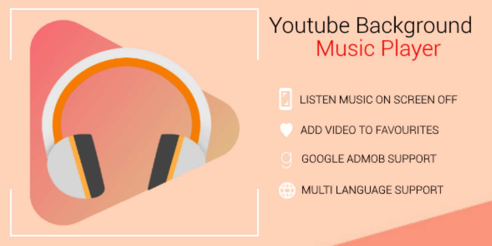 Youtube Background Music Player Android Template