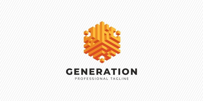 Generation 3D Abstract Hexagon Logo