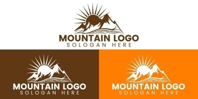 Adventure Mountain Logo Design Template