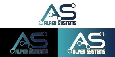 Technology AS  Letter Logo Design Template