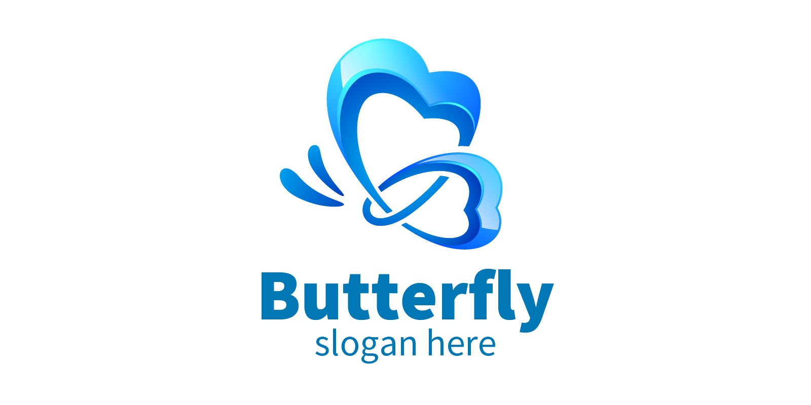 Butterfly Logo With 3D Concept