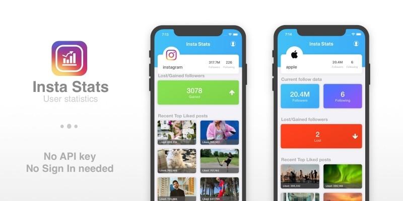 Insta Stats - iOS App Template