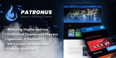 Patronus - eSports Gaming Theme For Teams