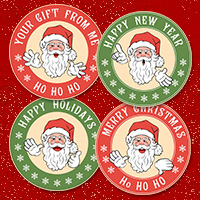 Santa Sticker Templates