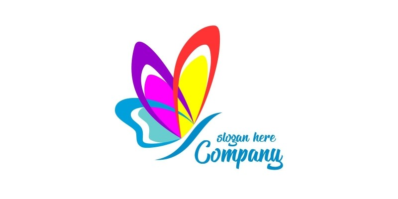 Butterfly Colors Logo 8