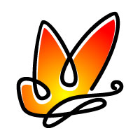 Butterfly Colors Logo 13