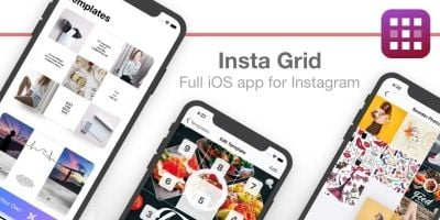 Insta Grid - Full iOS App Template