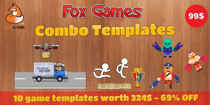 Fox Games Combo Templates - 10 Unity Games Bundle