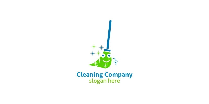 Cleaning Service Logo With Eco Friendly
