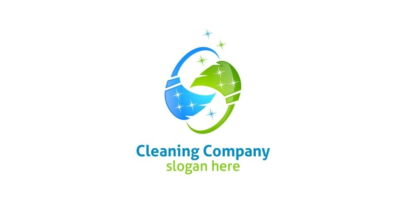 Cleaning Service Logo with Eco Friendly 4
