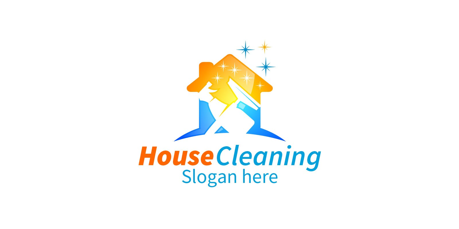 Cleaning Service Logo with Eco Friendly 10
