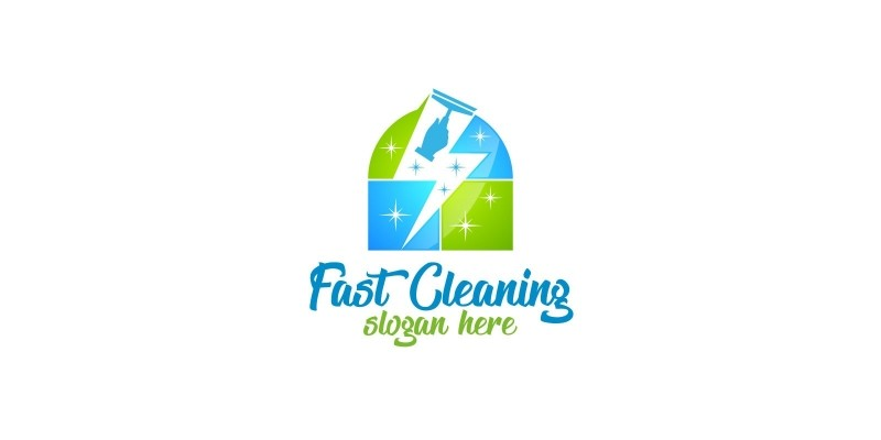 Cleaning Service Logo with Eco Friendly 13