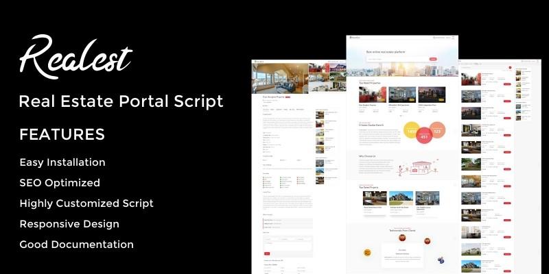 Realest - Real Estate Portal Script