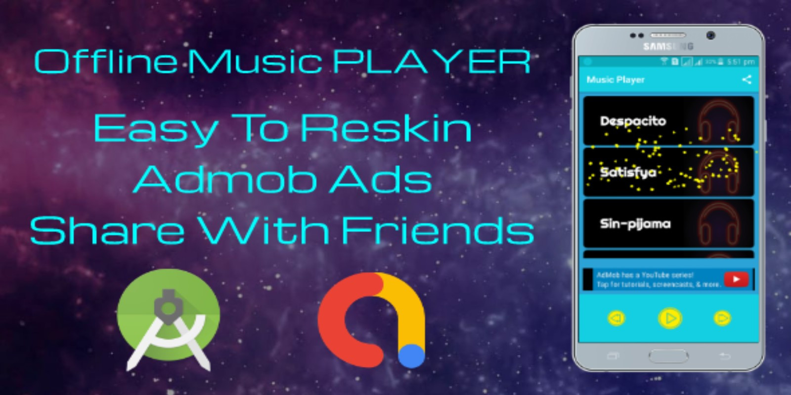 Offline Music Player - Android App Template