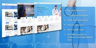 MaxMed Hospital Landing Page Template