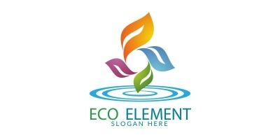 Natural Green Tree Logo With Ecology Leaf Concept