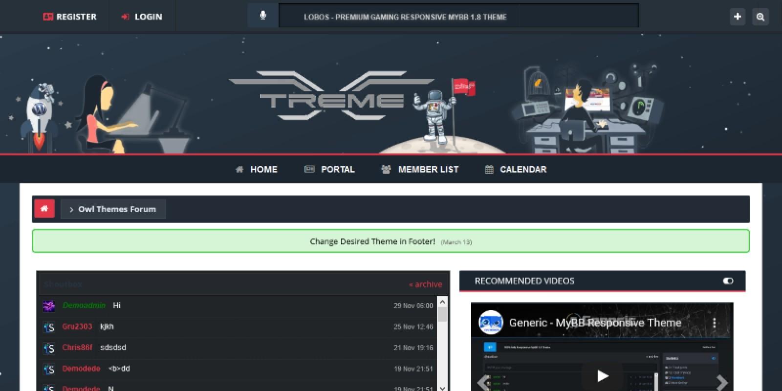 xTreme – MyBB Theme