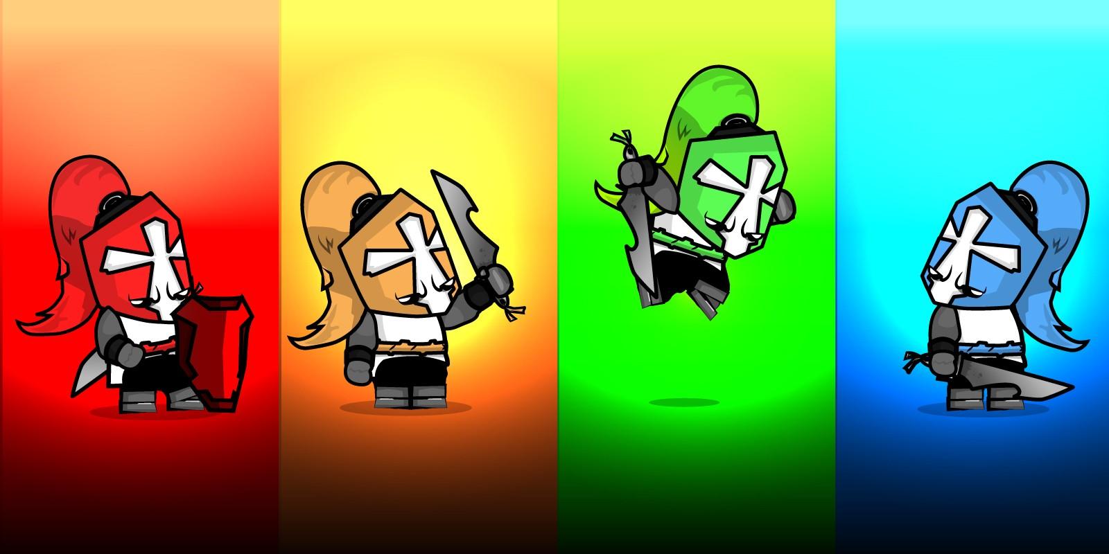 Crusader Knights 2D Character Sprites