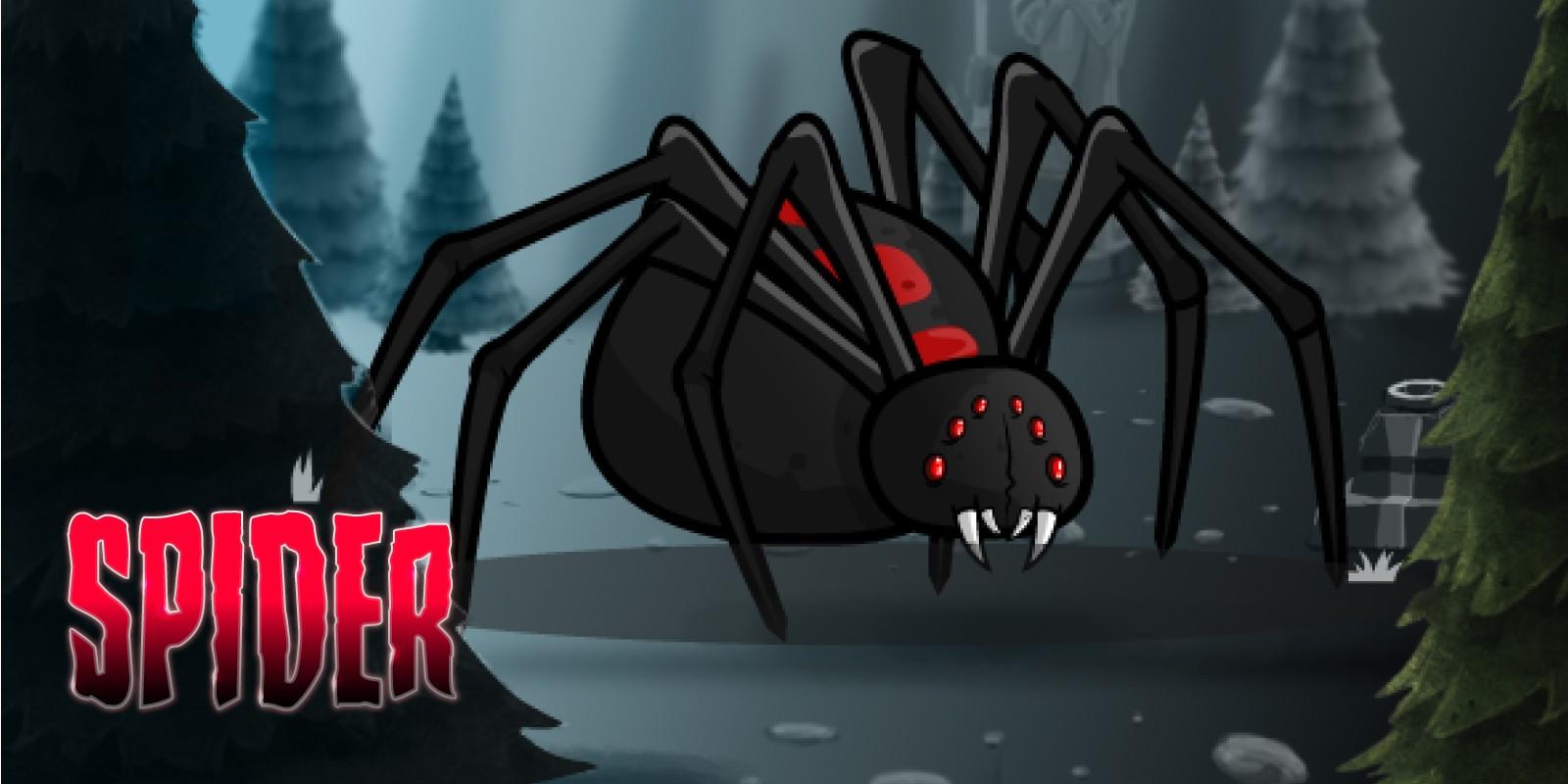 Giant Black Widow Spider Game Sprites