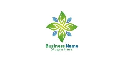 Natural Green Tree Logo with Ecology Leaf Design 6