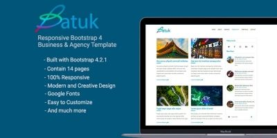 Batuk - Bootstrap 4 Business Agency Template