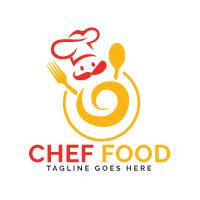 Chef Food Logo Design.